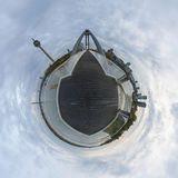 Poco panorama del pianeta di Dusseldorf Immagini Stock Libere da Diritti