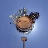 Poco panorama del pianeta di Dusseldorf Fotografia Stock