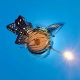 Poco panorama del pianeta di Dusseldorf Fotografia Stock Libera da Diritti