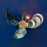 Poco panorama del planeta de Düsseldorf Imagen de archivo libre de regalías