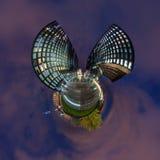 Poco panorama del planeta de Düsseldorf Fotos de archivo