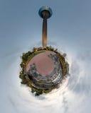 Poco panorama del planeta de Düsseldorf Foto de archivo
