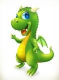 Poco personaje de dibujos animados del dragón Icono divertido del vector de los animales Fotografía de archivo