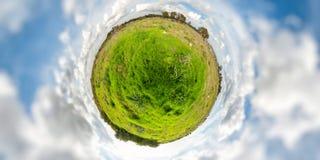 Poco pianeta verde Fotografia Stock Libera da Diritti