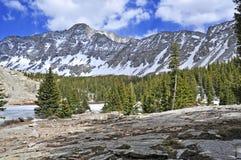 Poco picco dell'orso, Sangre de Cristo Range, Colorado Immagini Stock