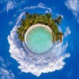 Poco planeta Maldivas imagenes de archivo