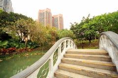 Poco ponte in parco a Hong Kong Immagine Stock Libera da Diritti