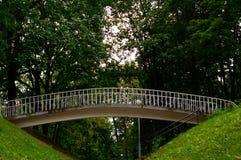 Poco puente del parque Árboles verdes Fotografía de archivo