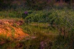 Poco río en los Países Bajos imagen de archivo