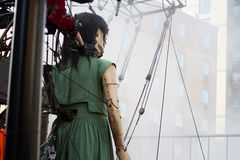 Poco ragazza-gigante a Montreal, Quebec Fotografia Stock
