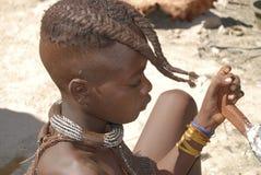 Poco ragazzo di himba Fotografie Stock Libere da Diritti