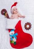 Poco San Nicolás recién nacido en el bootee del Año Nuevo Imagen de archivo