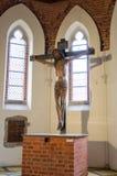 Poco santuario di più grande castello gotico in Europa, Malbork Immagine Stock