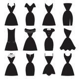 Poco sistema negro del vestido Fotografía de archivo libre de regalías