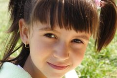 Poco sonríe Fotografía de archivo libre de regalías