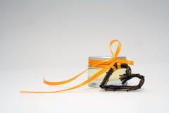 Poco tarro con el corazón Imágenes de archivo libres de regalías