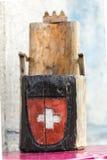Poco trono di legno Fotografia Stock Libera da Diritti