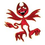 Poco vector del diablo de la Navidad ilustración del vector