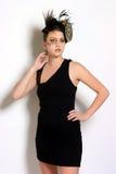 Poco vestido de cóctel negro Imagen de archivo libre de regalías