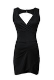 Poco vestido negro aislado en blanco Fotos de archivo