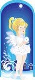 Poco wist della ragazza di angelo una stella Immagine Stock