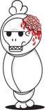 Pocong πτώση-νεκρό όπως το ύφος Στοκ εικόνα με δικαίωμα ελεύθερης χρήσης
