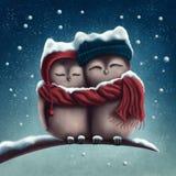Pocos búhos de la nieve libre illustration