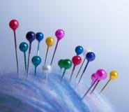Pocos contactos en bola de las lanas foto de archivo libre de regalías