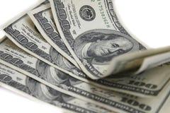 Pocos dólares del hundret Fotografía de archivo