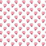 Pocos globos de los corazones del rosa de la acuarela libre illustration