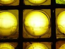 Pocos ladrillos de cristal amarillos Foto de archivo libre de regalías