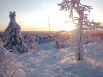 Pocos momentos antes de la puesta del sol Imagenes de archivo