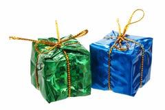 Pocos regalos de la Navidad Fotos de archivo libres de regalías