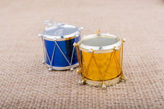 Pocos tambores coloridos del juguete Imagen de archivo libre de regalías