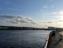 Pocra kaj, Aberdeen hamn, Skottland Arkivbild