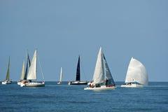 Początek żeglowania regatta Zdjęcia Royalty Free