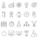 Początkowe ikony ustawiać Zdjęcie Stock