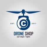 Początkowego listu logo dla trutnia sklepu ilustracji