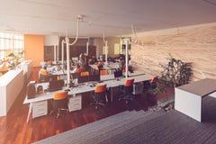 Początkowi ludzie biznesu grupują pracującą codzienną pracę przy nowożytnym biurem Obraz Stock