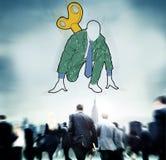 Początkowy Biznesowy Aktywacyjny wyzwanie Meandruje up pojęcie zdjęcia royalty free