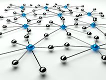poczęcie abstrakcjonistyczna komunikacyjna sieć Zdjęcie Stock