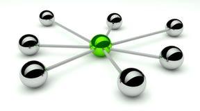 poczęcie abstrakcjonistyczna komunikacyjna sieć ilustracji