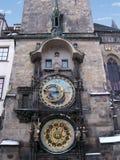 poczekaj astronomiczna zegara Prague republiki Obrazy Stock