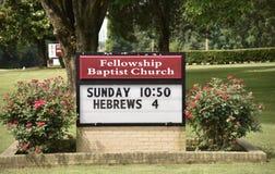 Poczetu kościół baptystów znak, Tennessee obraz royalty free