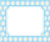 Pocztówka białe stokrotki dla powitania Fotografia Royalty Free