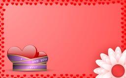 Pocztówka dla deklaraci miłość ilustracja wektor
