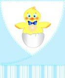 Pocztówka dla nowonarodzonej chłopiec Zdjęcia Stock