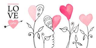 Pocztówka dla walentynka dnia royalty ilustracja