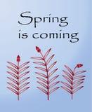 Pocztówka dla wiosna festiwalu Zdjęcia Royalty Free