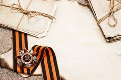 Pocztówka dzień zwycięstwo nad Nazis w drugiej wojnie światowa Zdjęcie Royalty Free